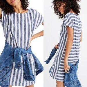 Madewell Stripe-Play Button-Back Dress